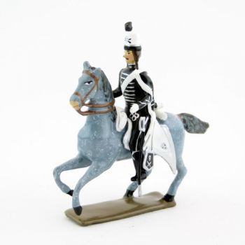 officier des hussards volontaires de la mort à cheval (1793)