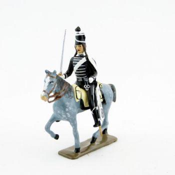 cavalier des hussards volontaires de la mort à cheval (1793)