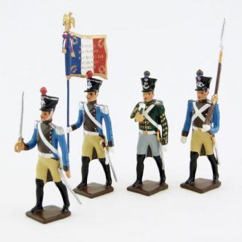 Régiment du Train, ensemble de 4 figurines