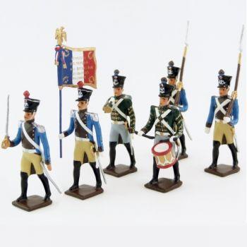 Régiment du Train, ensemble de 6 figurines