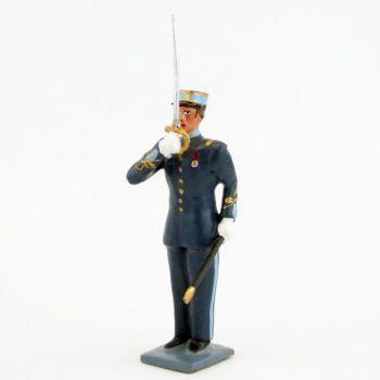 élève de l'EMIA (École militaire interarmes) au présenter sabre (h. pers. 62 mm)