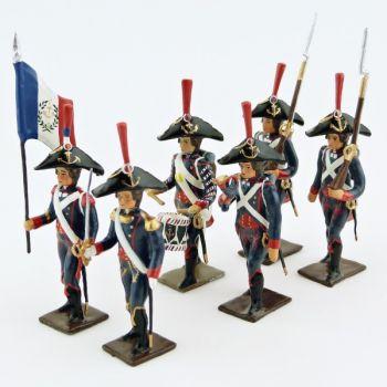 Pontonniers du Rhin (1792), ensemble de 6 figurines