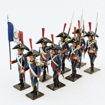 Pontonniers du Rhin (1792), ensemble de 8 figurines