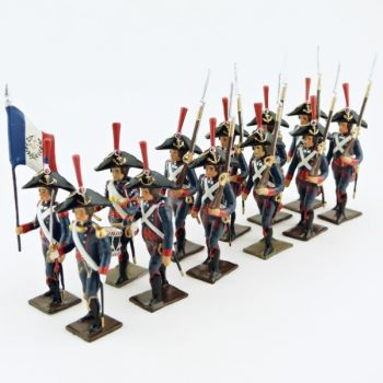 Pontonniers du Rhin (1792), ensemble de 12 figurines