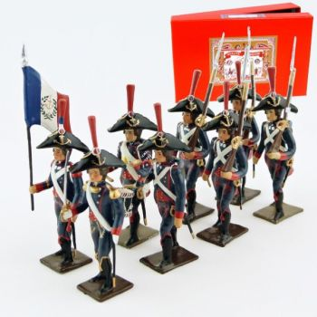 Pontonniers du Rhin (1792), coffret de 8 figurines