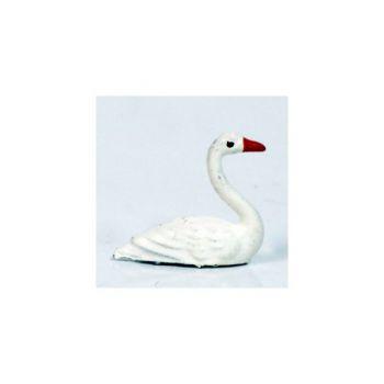 Cygne nageant blanc