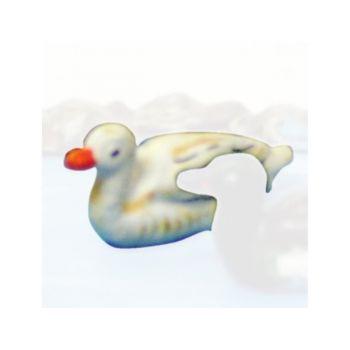 Canard nageant blanc
