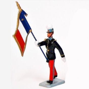 porte-drapeau de l'Ecole de Saint-Cyr (Coët-Quidan)