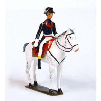 Bonaparte, 1er Consul à cheval (1769-1821) ,manteau bleu