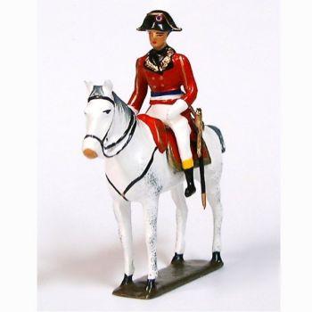 Bonaparte, 1er Consul à cheval (1769-1821), manteau rouge