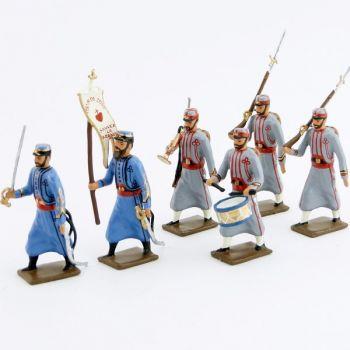 Zouaves pontificaux (1870), ensemble de 6 figurines