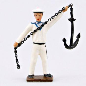 marin lançant l'ancre (avec chaine)