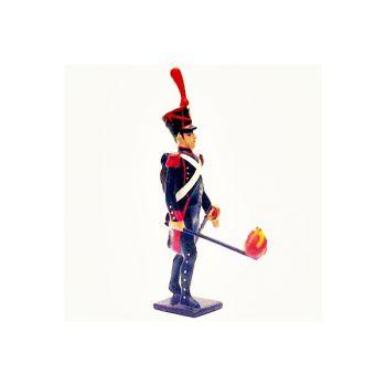 artilleur de la ligne avec boutefeu (mèche)