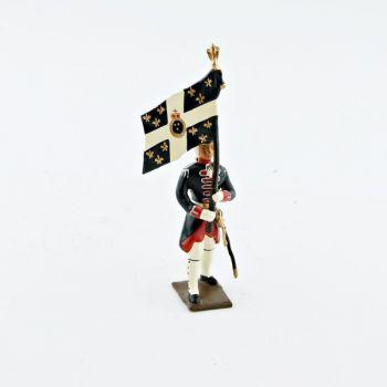 drapeau des grenadiers de la garde française -  louis xv (1740)