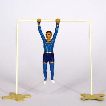 athlète sur barre fixe