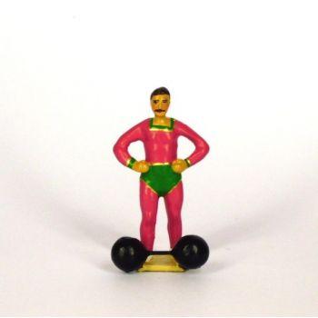 haltérophile avec haltères au pied