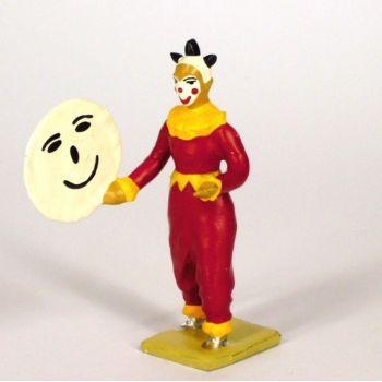 clown tenant disque (tête de lune)