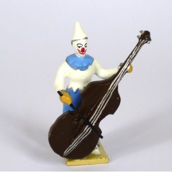 clown avec contrebasse