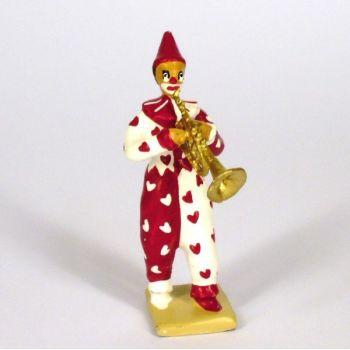 clown avec trompette