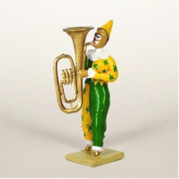 clown avec grand tuba