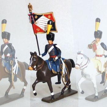 etendard de la compagnie d'elite du 5e hussards (1808)