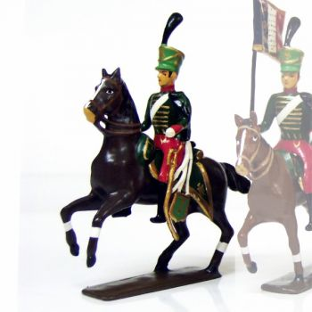 officier du 7e régiment de hussards (1808)