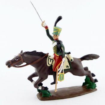 cavalier du 7e Hussards à la charge