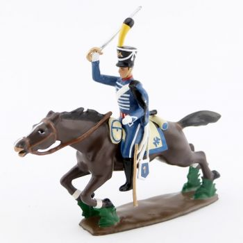 cavalier du 1er Hussards à la charge