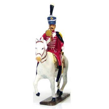 trompette (d'ordonnance) du 9e régiment de hussards (rouge) (1808)