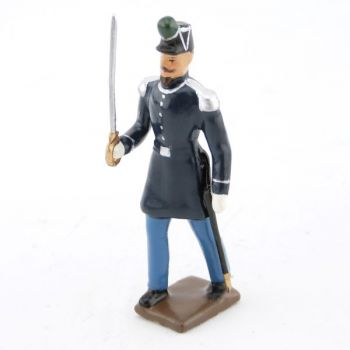 """officier des chasseurs à pied (n. iii), """"basquine"""" bleue"""