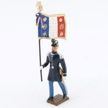 """drapeau des chasseurs à pied (n. III), """"basquine"""" bleue"""