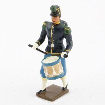 """tambour des chasseurs à pied (N. III), """"basquine"""" bleue"""