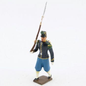 """fantassin des chasseurs à pied (N. III), """"basquine"""" bleue"""