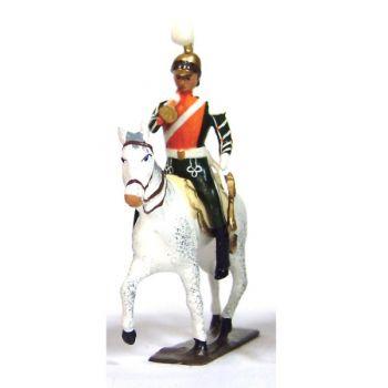 trompette (d'ordonnance) des chevau-léger 2ème rgt (plastron orange) (1812)