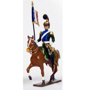 etendard des chevau-léger 5ème rgt (plastron bleu) (1812)