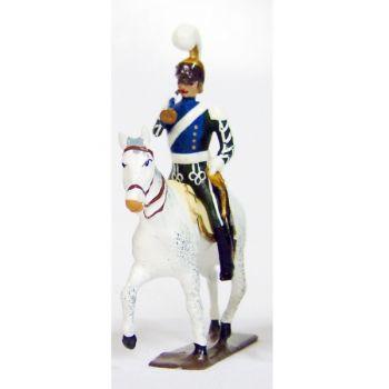 trompette (d'ordonnance) des chevau-léger 5ème rgt (plastron bleu) (1812)