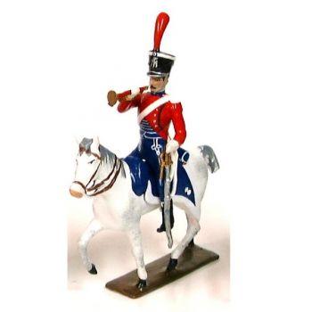 trompette (d'ordonnance) des chevau-leger lanciers-gendarmes a cheval (1804)