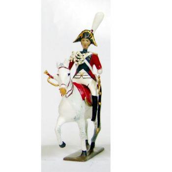 trompette (d'ordonnance) de la garde impériale de strasbourg à cheval (1805)