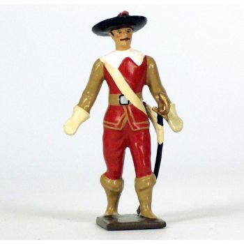 mousquetaire, tenue rouge et beige