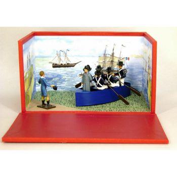 """diorama """"le débarquement à Golfe-Juan"""" (1er mars 1815)"""
