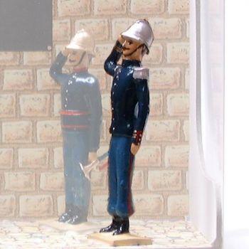 """officier au salut (""""l'Appel aux morts"""")"""