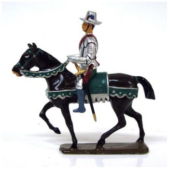 cavalier de la cavalerie henri iv avec chapeau