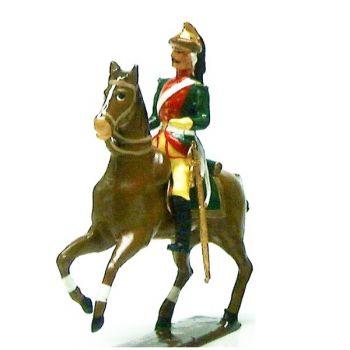 officier des dragons louis xv à cheval (1740)