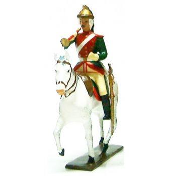 trompette des dragons louis xv à cheval (1740)