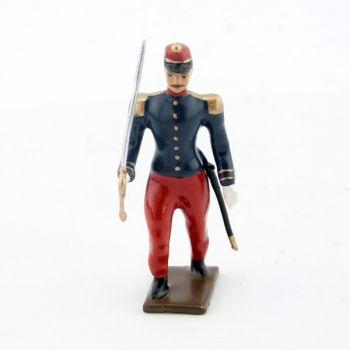 officier de zouaves avec chèches (turban)