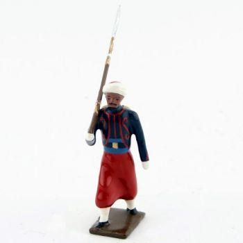 fantassin de zouaves avec chèches (turban)