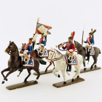 Dragons de Paris (1804-1813) - ensemble de 4 figurines