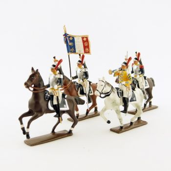 Cuirassiers à cheval - ensemble de 4 figurines
