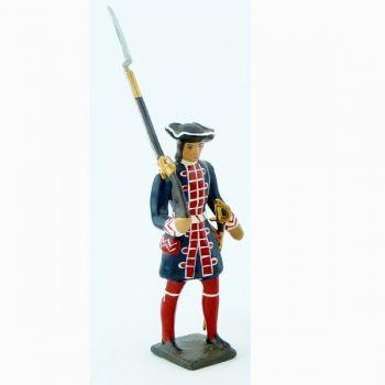 grenadier de la garde française louis xiv avec lance
