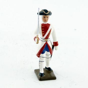 officier du 24ème de la reine (1749)